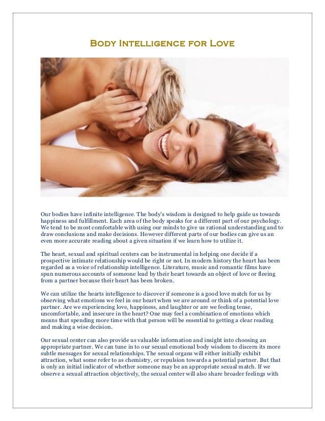 Body Intelligence for Love