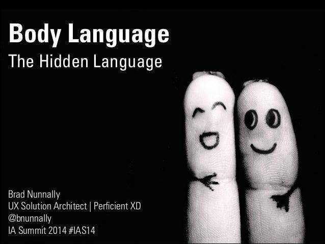 Body Language The Hidden Language