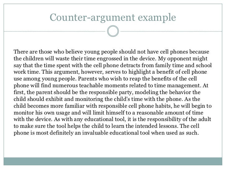 Counter Argument In An Essay