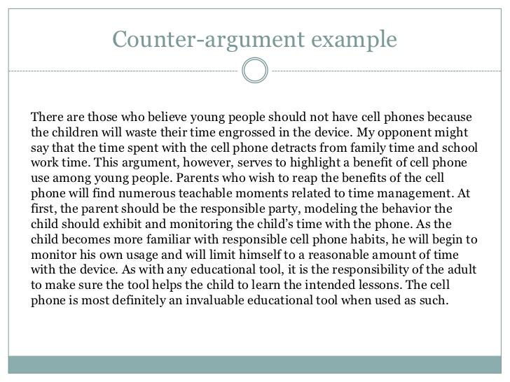 argumentative paragraph