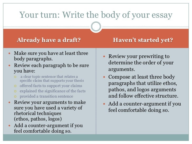 body of argumentative essay Argumentative essay is your ticket, and we will share the top winning topic ideas for your perfection argumentative essays are assigned to train your debating abilities this assignment has a great influence on how a student will perform or give a public speech later.