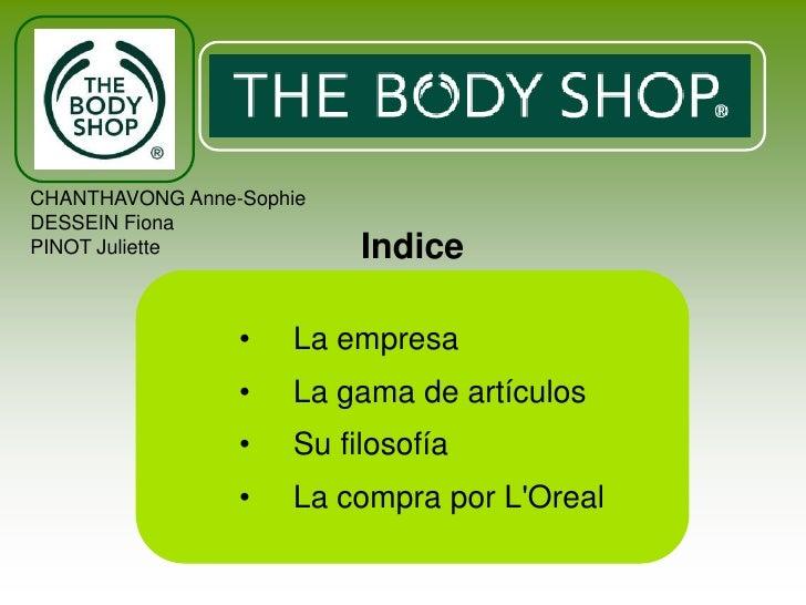 Body shop espagnol mmv