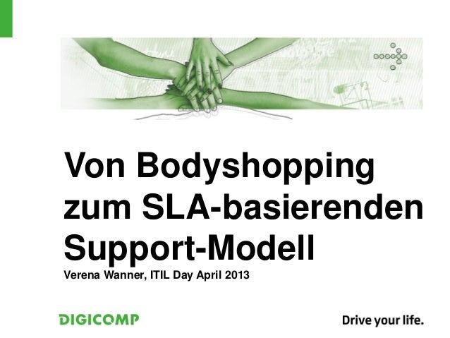 Von Bodyshoppingzum SLA-basierendenSupport-ModellVerena Wanner, ITIL Day April 2013
