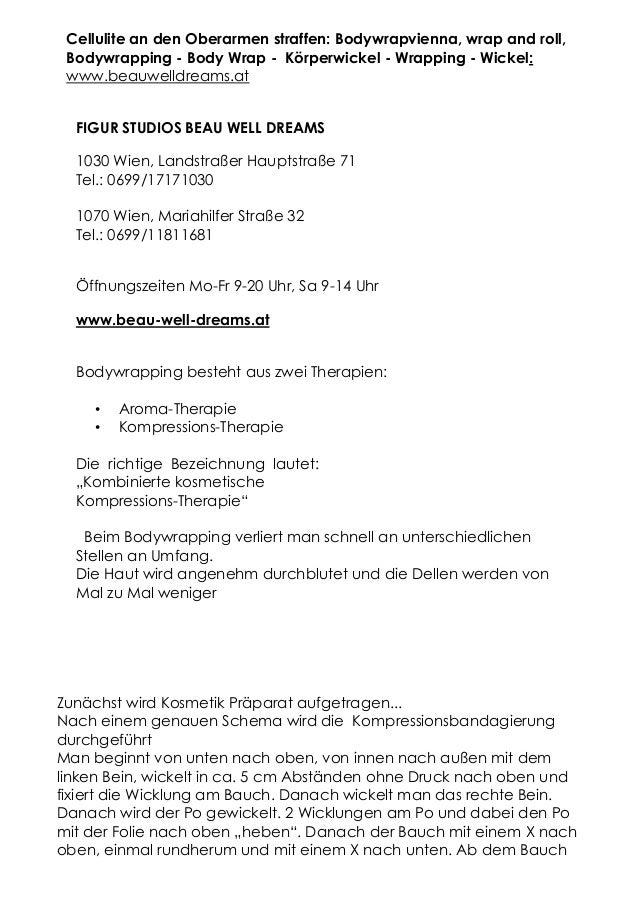 Cellulite an den Oberarmen straffen: Bodywrapvienna, wrap and roll, Bodywrapping - Body Wrap - Körperwickel - Wrapping - W...