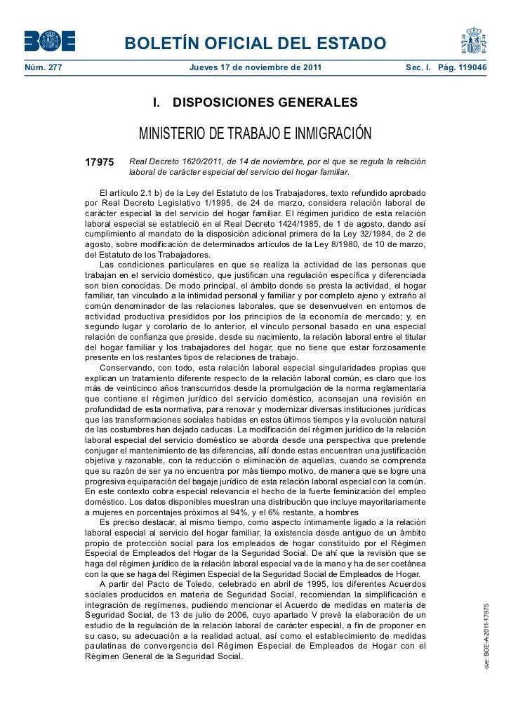 BOLETÍN OFICIAL DEL ESTADONúm. 277                               Jueves 17 de noviembre de 2011                         ...