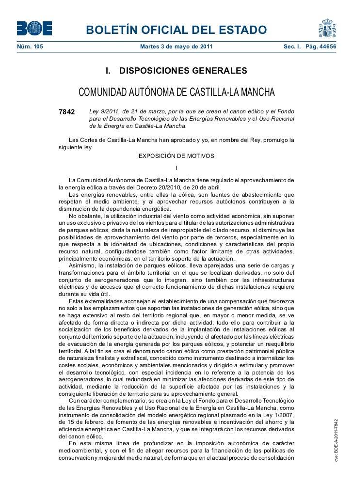 Canon energía eólica en Castilla-La Mancha