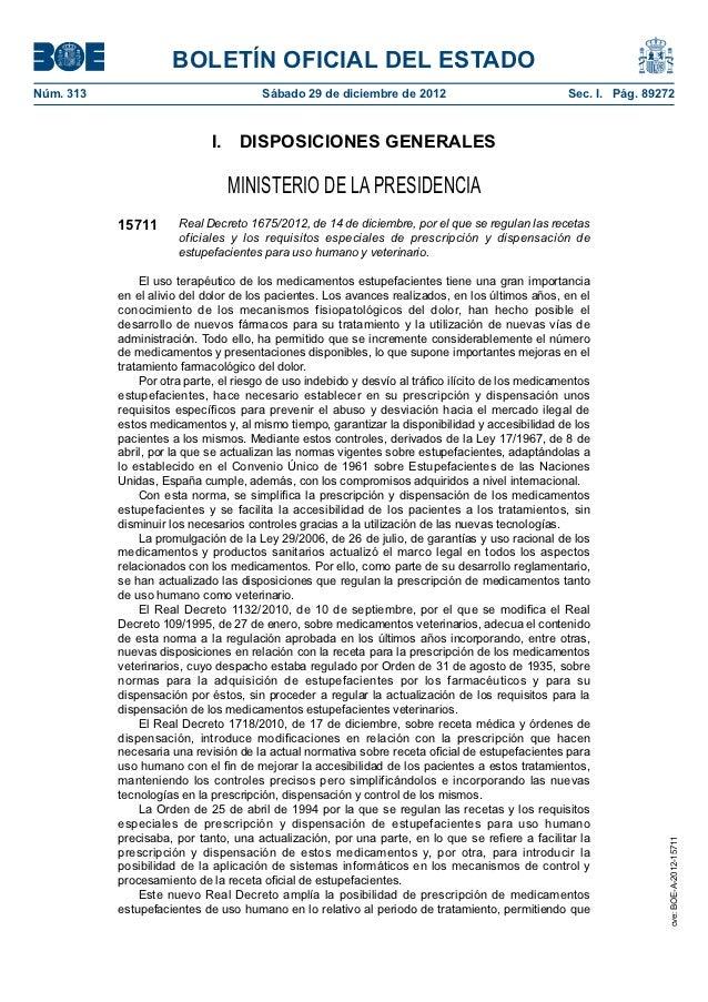 BOLETÍN OFICIAL DEL ESTADONúm. 313                               Sábado 29 de diciembre de 2012                         ...