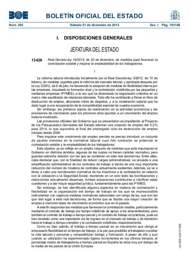 BOLETÍN OFICIAL DEL ESTADO Núm. 305  Sábado 21 de diciembre de 2013  Sec. I. Pág. 103148  I. DISPOSICIONES GENERALES  J...