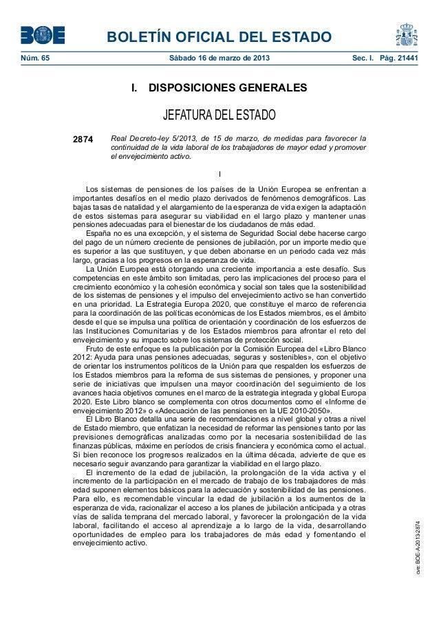 BOLETÍN OFICIAL DEL ESTADONúm. 65                                Sábado 16 de marzo de 2013                            S...