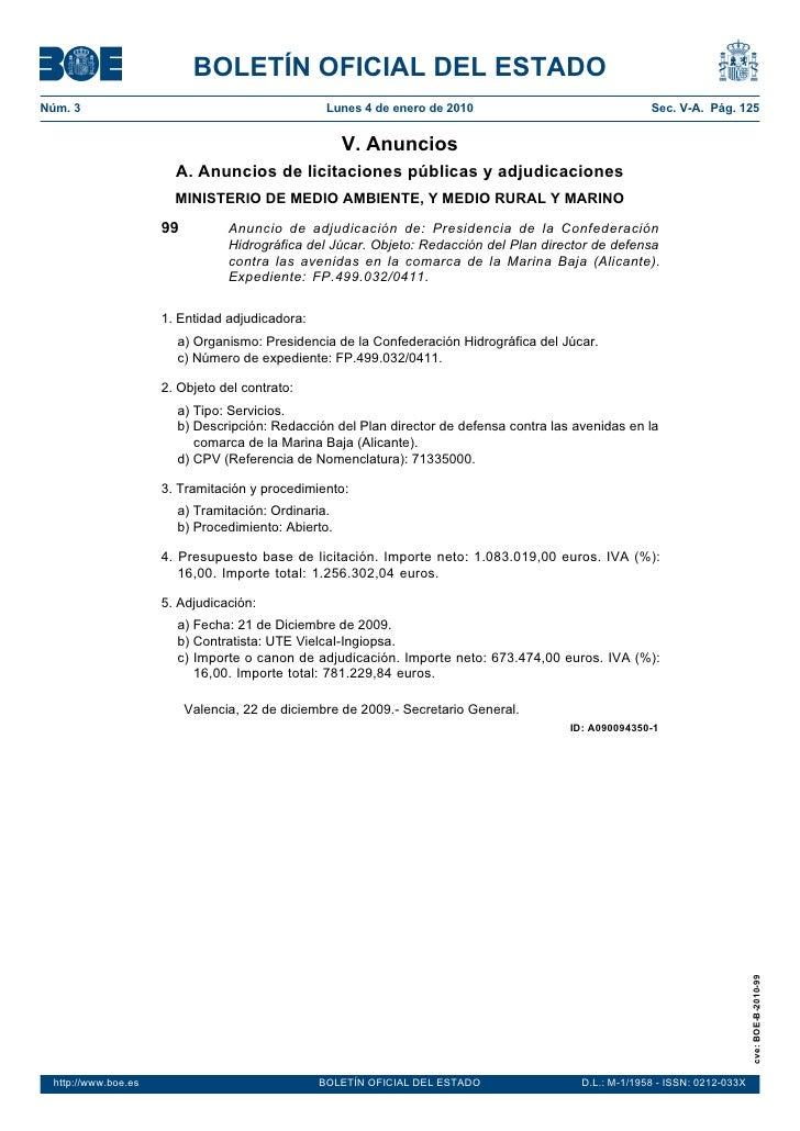 "Plan director defensa avenidas Marina Baja"""