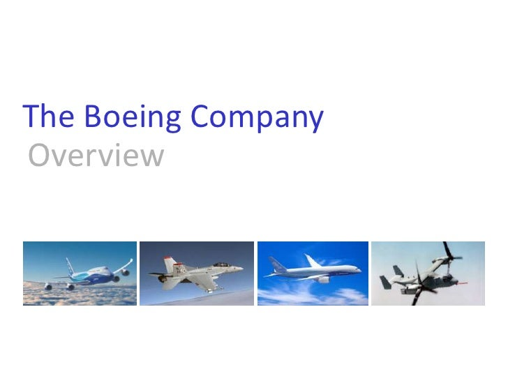 The Boeing Company<br />Overview<br />