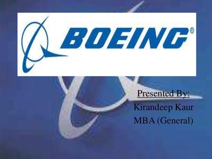 Boeing presentation