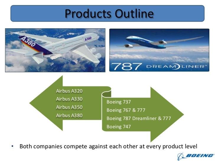 outline of optimal pricing boeing vs airbus