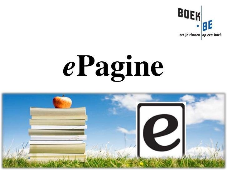 ePagine boekenbeurs presentatie 02/11/2009