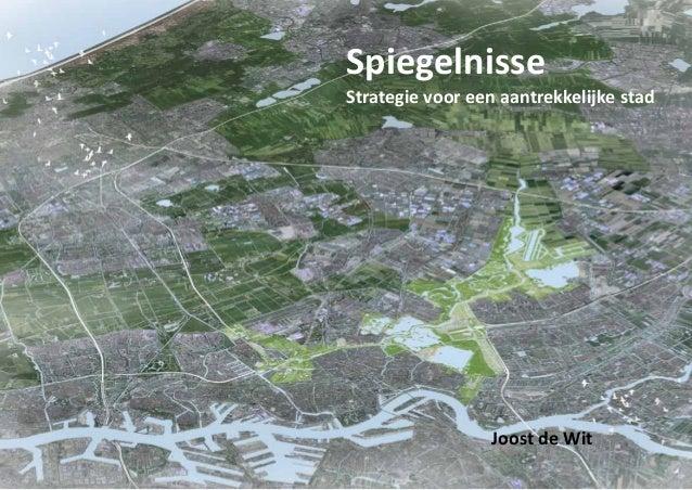 Spiegelnisse  Strategie voor een aantrekkelijke stad  Joost de Wit