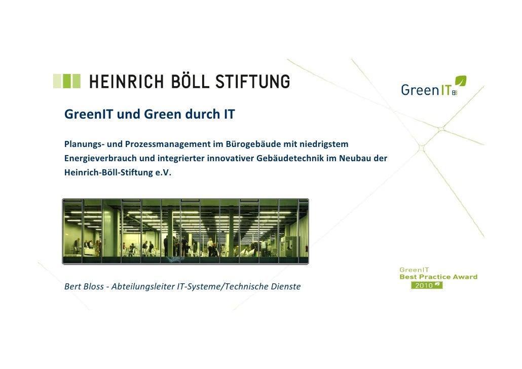 Heinrich-Böll-Stiftung - GreenIT und Green durch IT