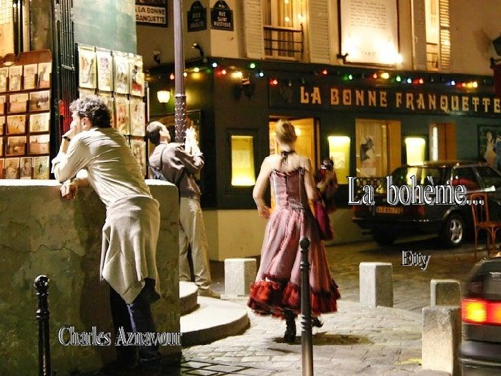 Charles Aznavour  La  bohème... Etty