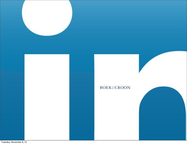 Boer & croon workshop: LinkedIn for business