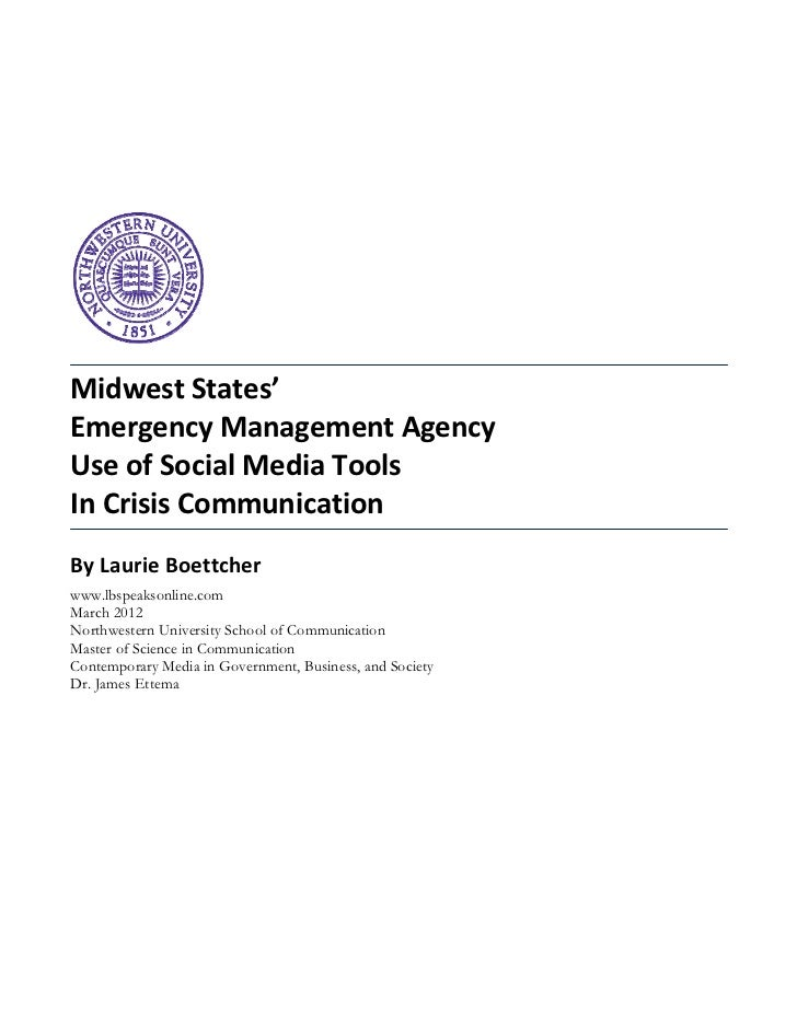 Midwest States' Use of Social Media in Emergency Management