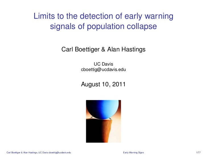 Limits to the detection of early warning                              signals of population collapse                      ...