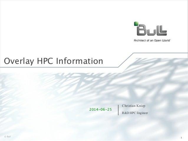 ©Bull 2012 Overlay HPC Information 1 Christian Kniep R&D HPC Engineer 2014-06-25