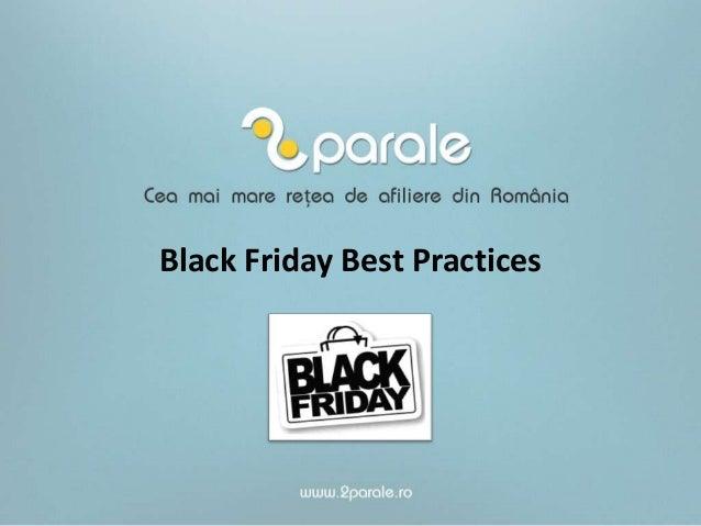 Black Friday Best Practices