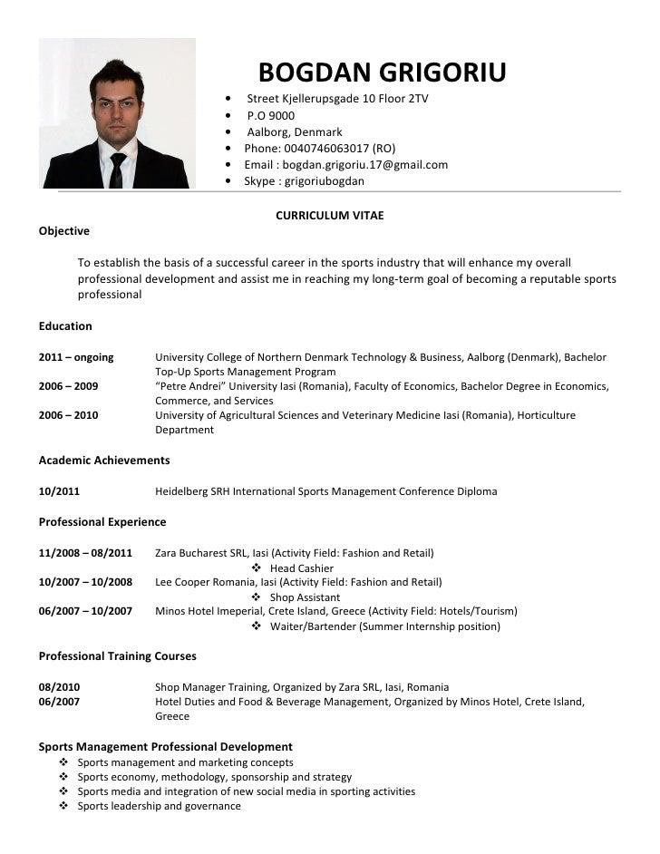 Resume Curriculum Vitae,Use this curriculum vitae example to write ...