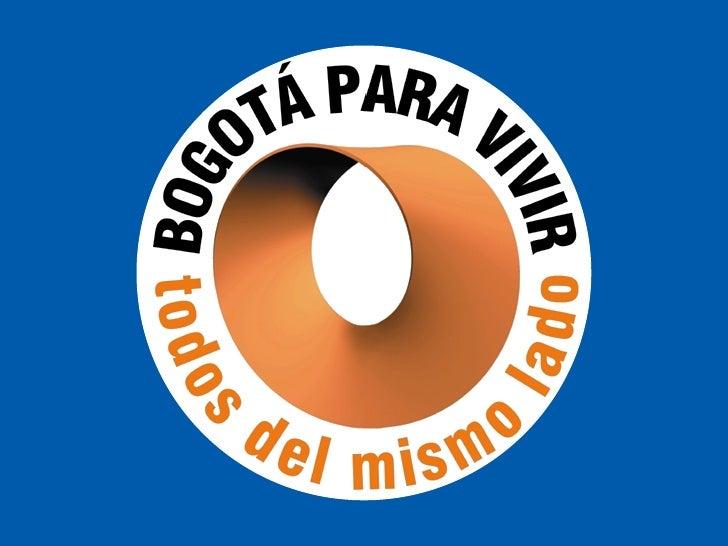 Bogota Competitiva  Mockus