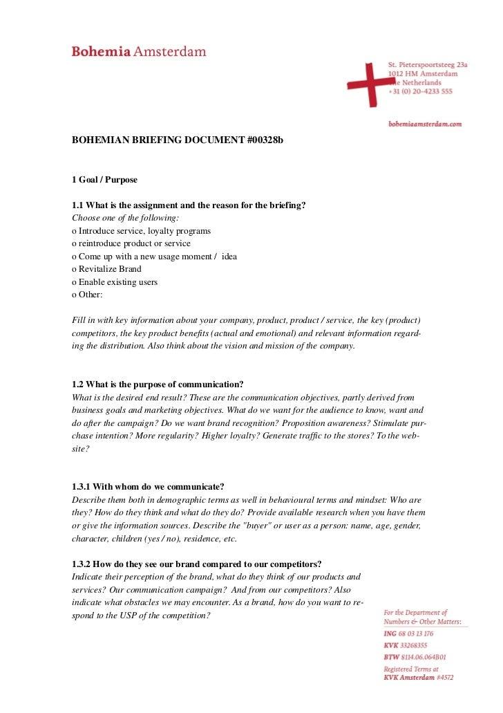 Bohemian Briefing Document #00328b English