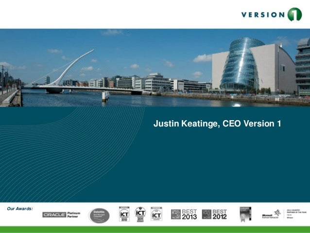 Our Awards: Justin Keatinge, CEO Version 1