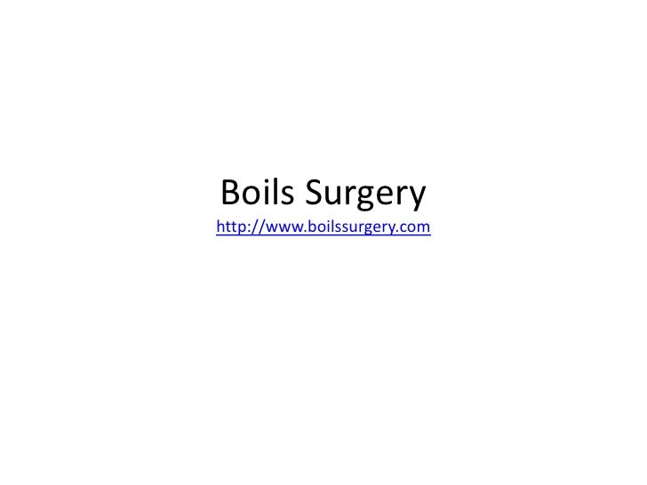 All About Boils Surgery and its benefits