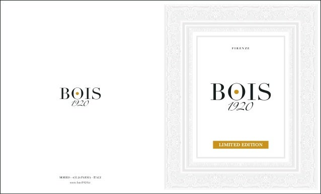 Bois 1920 - Brochure Limited Edition