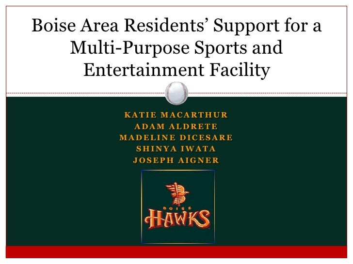 Boise Area Residents' Support For A Multi Purpose