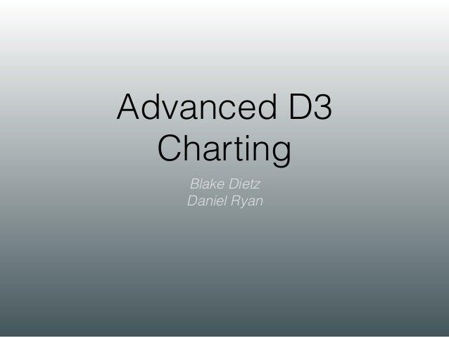 Advanced D3 Charting Blake Dietz Daniel Ryan