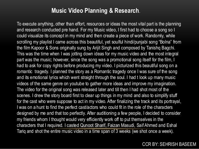 Promotion of music - media coursework?