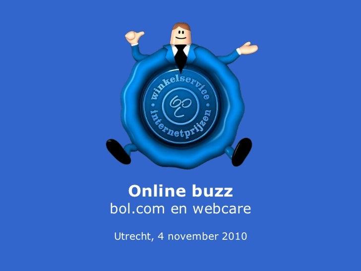 Online buzzbol.com en webcareUtrecht, 4 november 2010