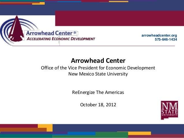 arrowheadcenter.org                                                     575-646-1434             Arrowhead CenterOffice of...