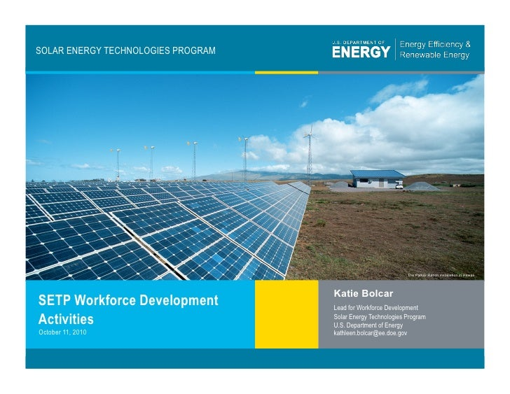 Solar energy technologies program workforce development for Solar energy games