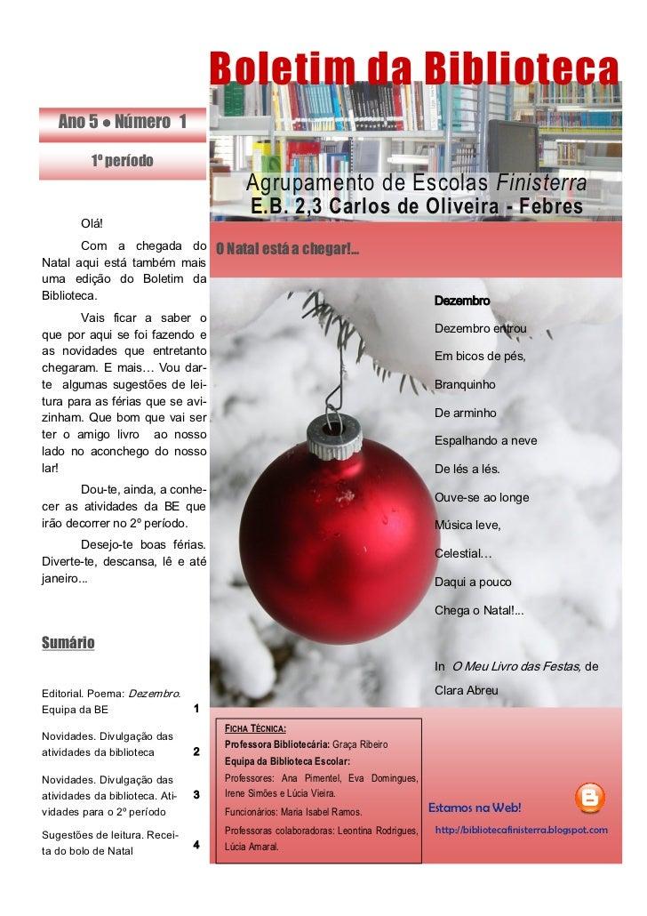 Boletim bib 1  2011-2012