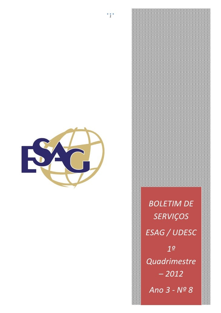 Boletim de Serviços ESAG_1_quadrimestre_de_2012_19.06.2012