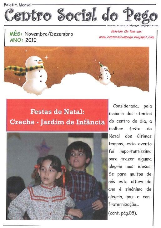 Boletim Novembro/Dezembro 2010