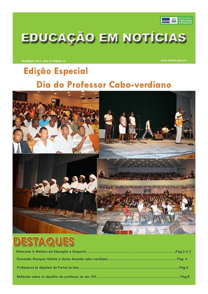 Boletim Educação abril maio