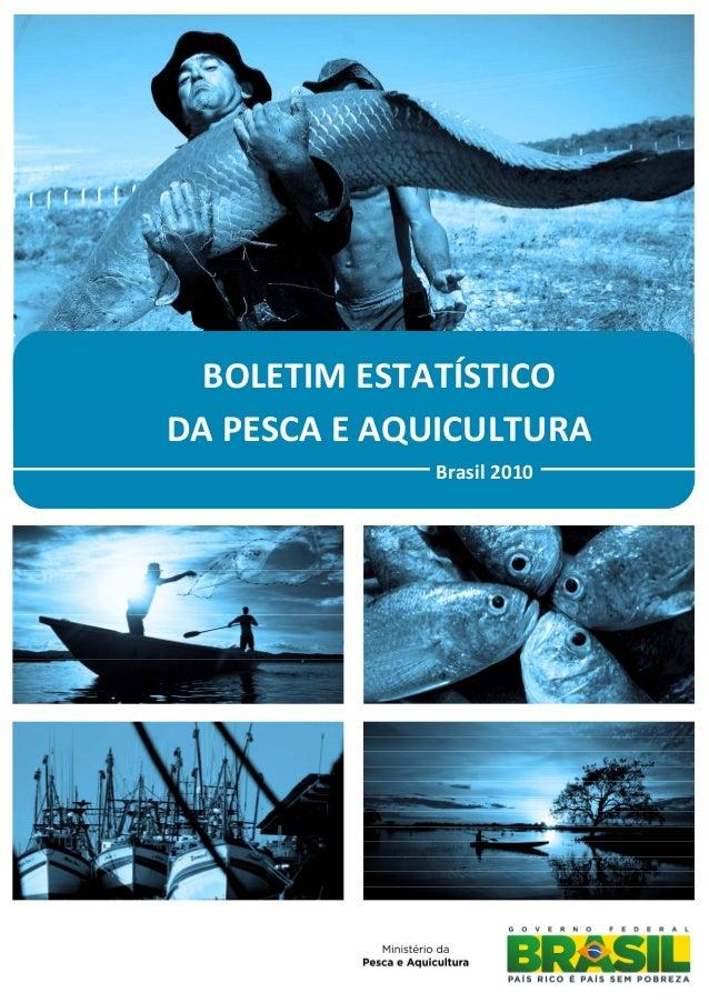 BOLETIM ESTATÍSTICODA PESCA E AQUICULTURA             Brasil 2010