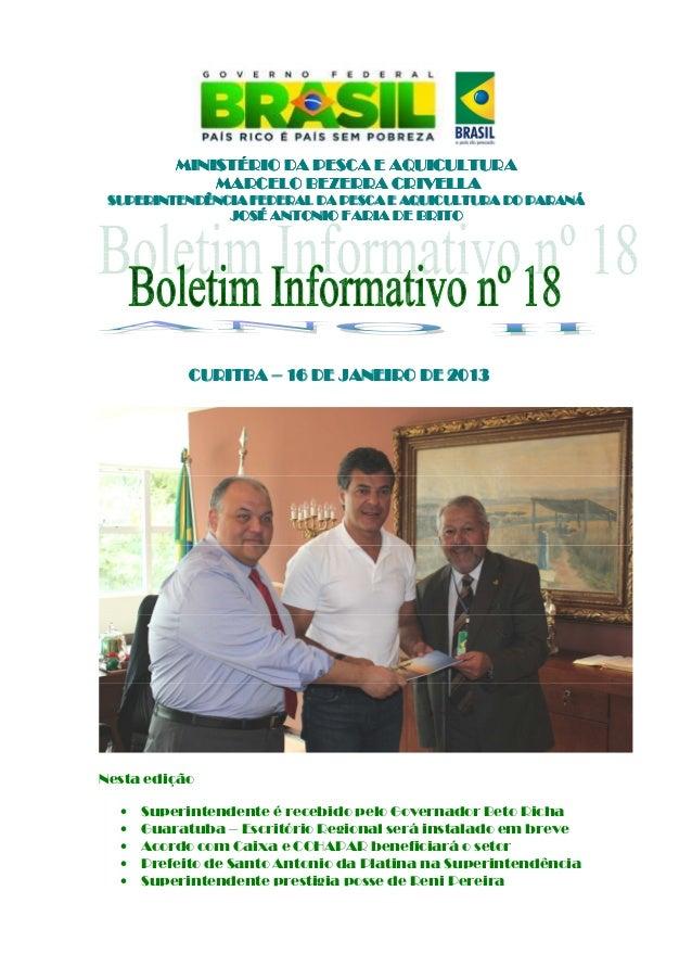 Boletim informativo nº 18