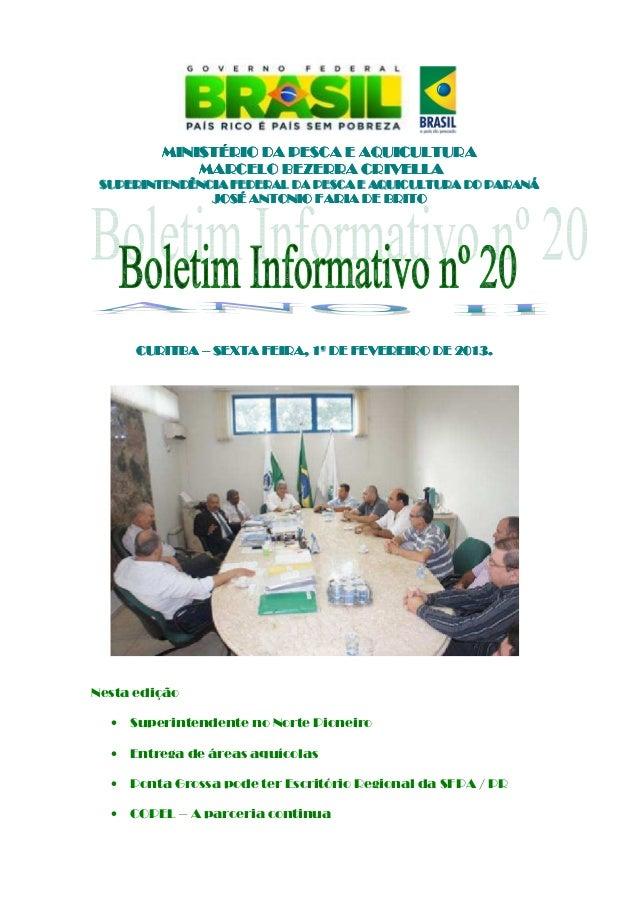 Boletim informativo nº 20