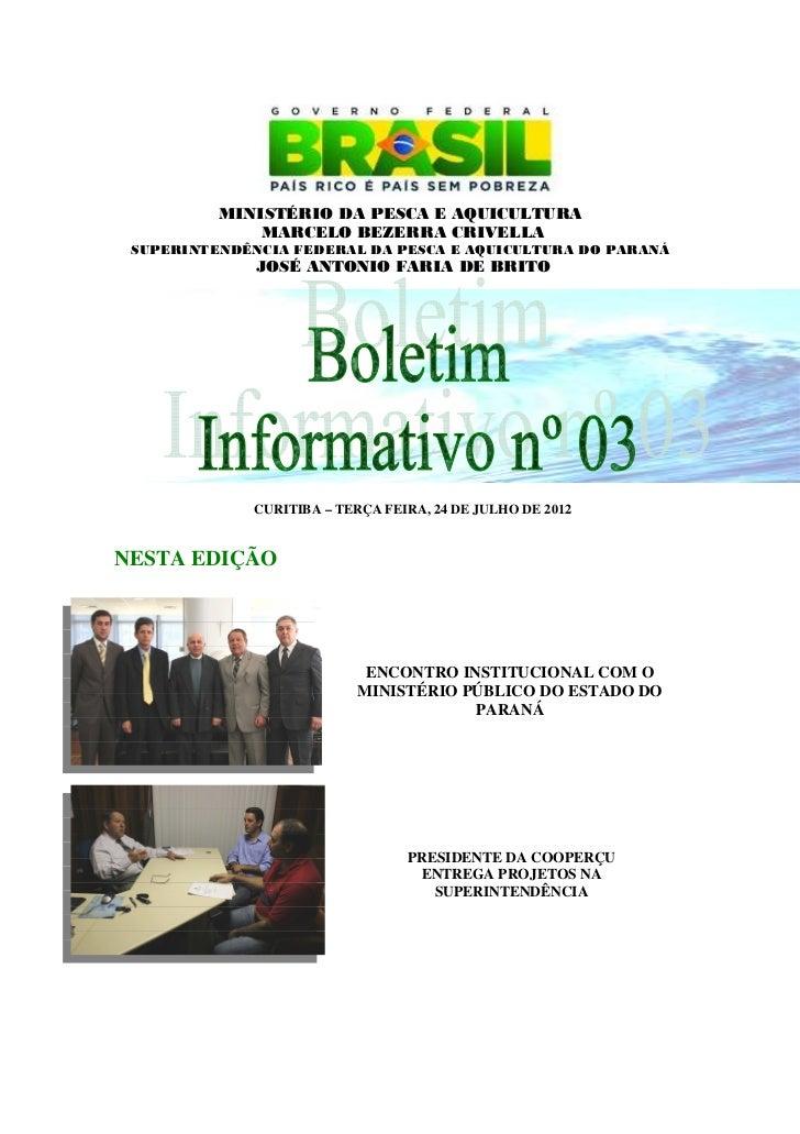 Boletim informativo n 3 b