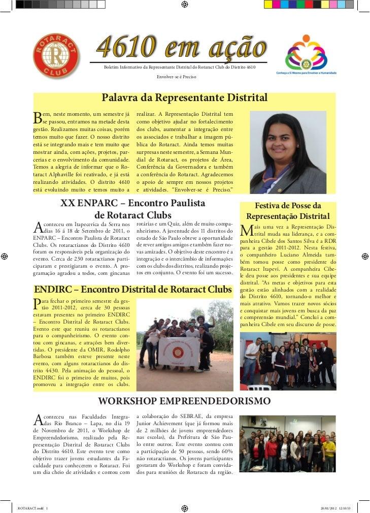 4610 em ação                                     Boletim Informativo da Representante Distrital do Rotaract Club do Distri...