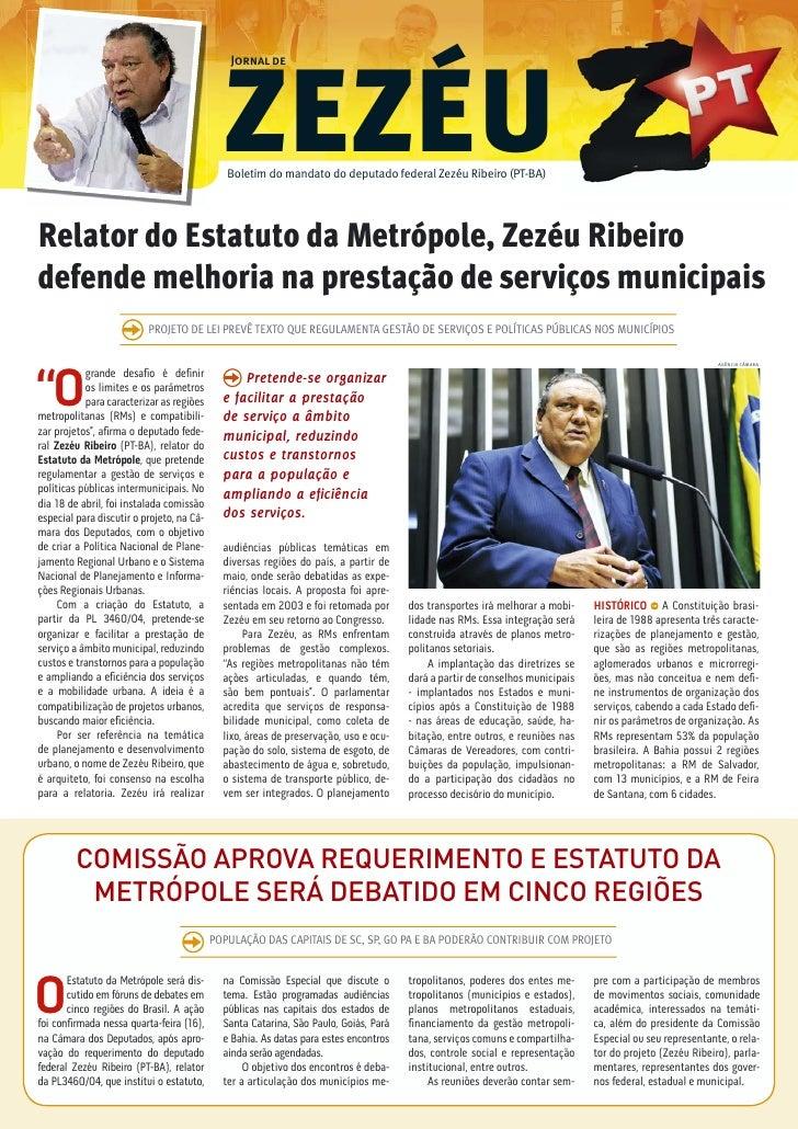 Jornal de                                             ZEZÉU                                              Boletim do mandat...