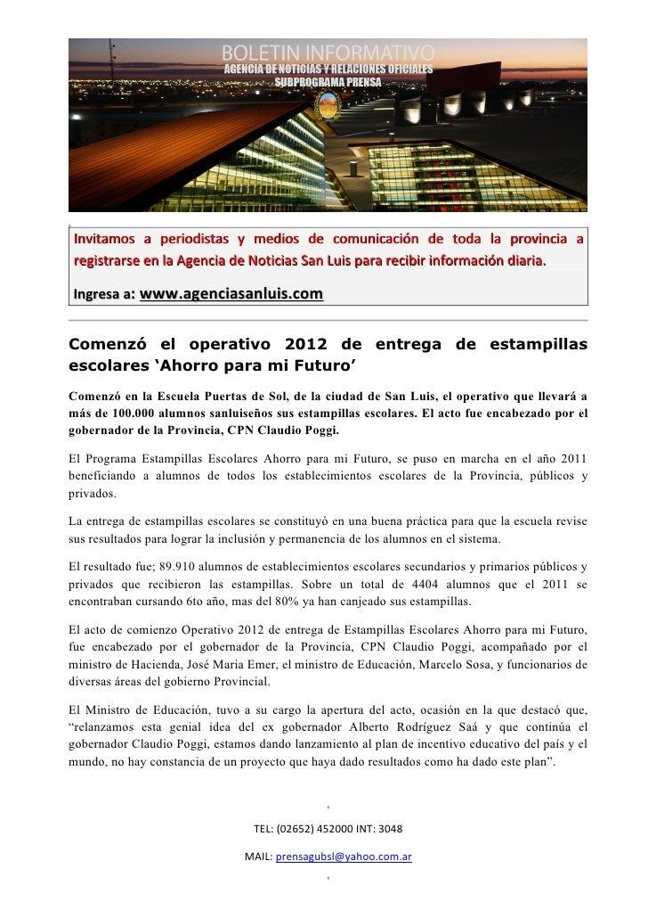 Invitamos a periodistas y medios de comunicación de toda la provincia aregistrarse en la Agencia de Noticias San Luis para...