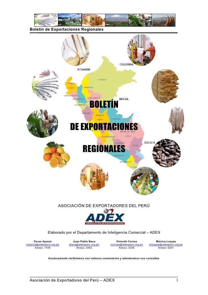 Boletin de Exportaciones Regionales